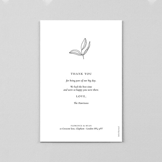 Wedding Thank You Cards Love poems (vellum) white - View 3