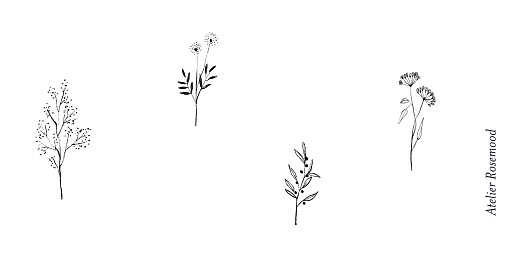 Wedding Place Cards Floral minimalist white - Page 3