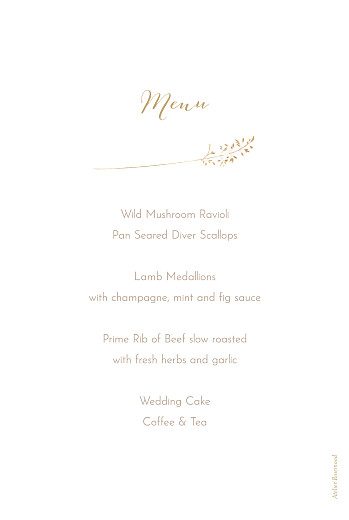 Christening Menus Country meadow sand - Page 2