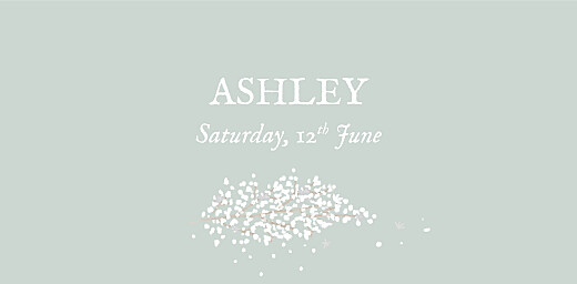 Christening Place Cards Baby's breath green - Page 4