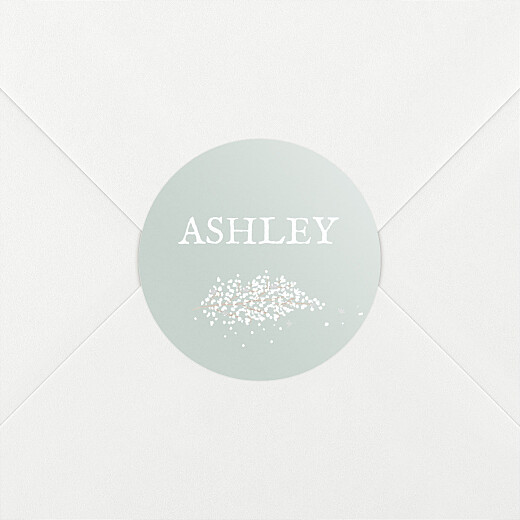 Christening Stickers Baby's breath green - View 2