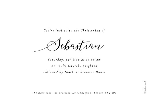Christening Invitations Calligraphy (landscape) white - Page 2