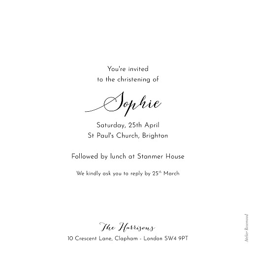 Christening Invitations Tender moments white - Page 2