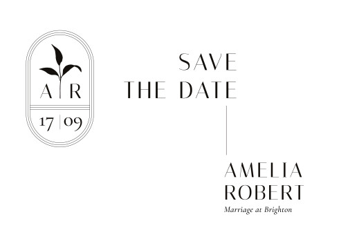 Save The Date Cards Ikebana white