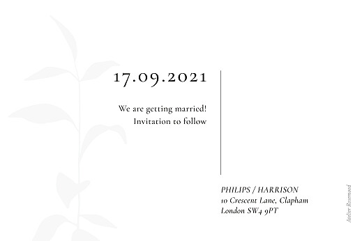 Save The Date Cards Ikebana white - Page 2