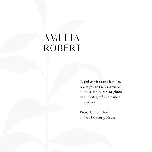 Wedding Invitations Ikebana blau - Page 3