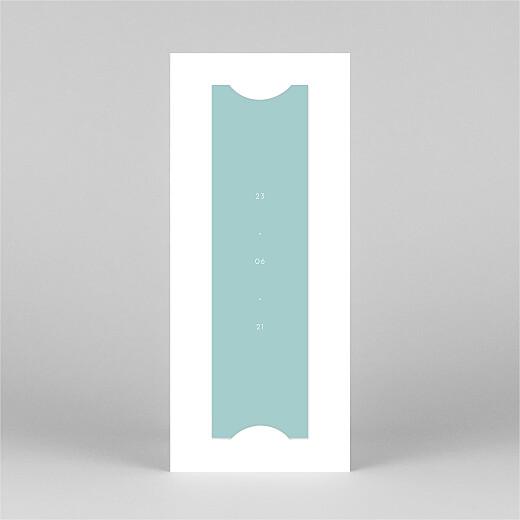 Christening Invitations Elegant heart (bookmark) blue - View 3