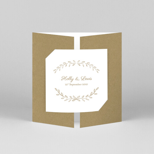 Wedding Invitations Poem (gatefold) kraft - View 1