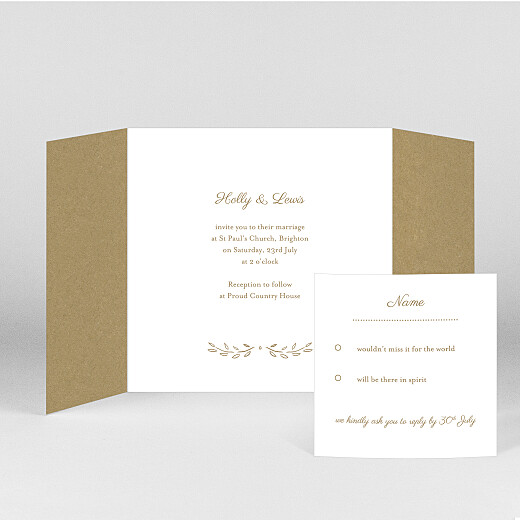 Wedding Invitations Poem (gatefold) kraft - View 2