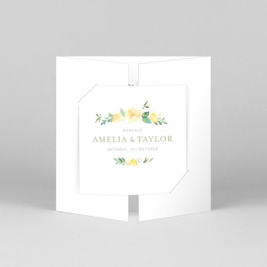 Wedding Invitations English garden gatefold green - View 1