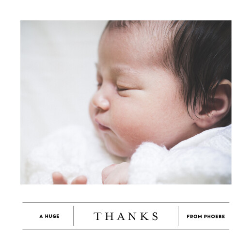 Baby Thank You Cards Breaking news (4 pages) white