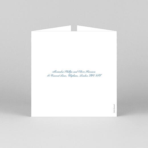 Wedding Invitations Chic border (gatefold) blue - View 3