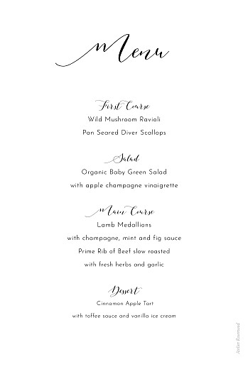 Christening Menus Tender moments white - Page 2