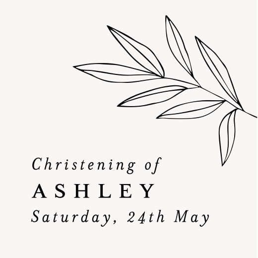 Christening Gift Tags Budding branch chalk