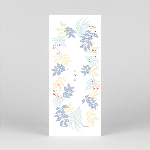 Baby Thank You Cards Budding border (bookmark) blue - View 3