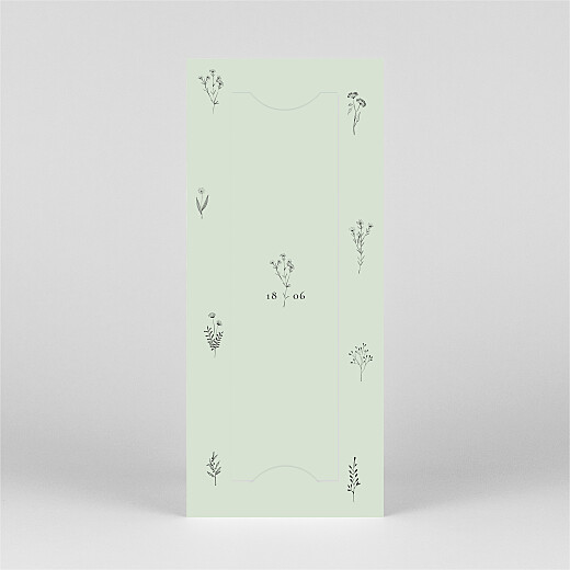Christening Invitations Floral minimalist (bookmark) green - View 3