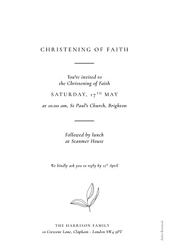 Christening Invitations Serenity white - Page 2