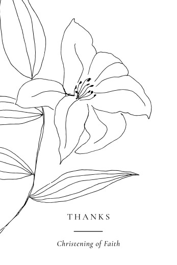 Baby Thank You Cards Serenity white
