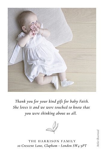 Baby Thank You Cards Serenity white - Page 2