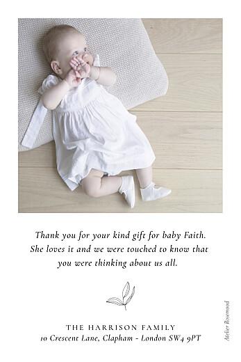 婴儿谢谢你卡片平静白 - 第2页