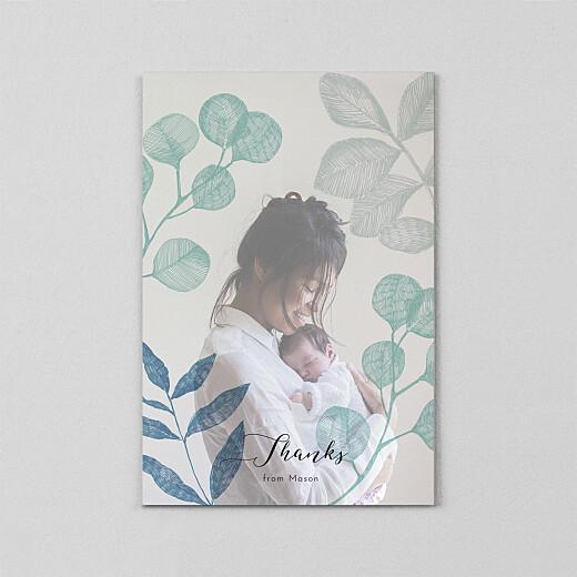 婴儿感谢卡午夜叶子(牛皮纸)蓝色 - 查看2
