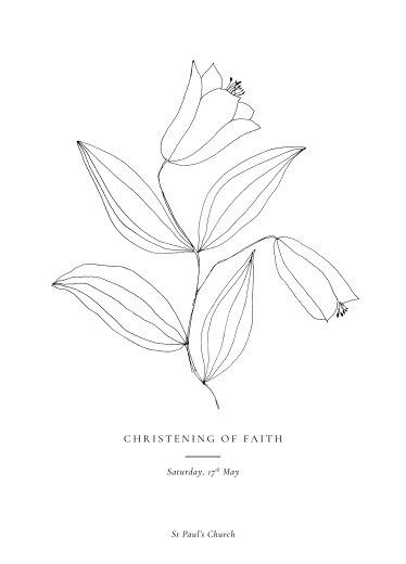 Christening Order of Service Booklets Serenity white