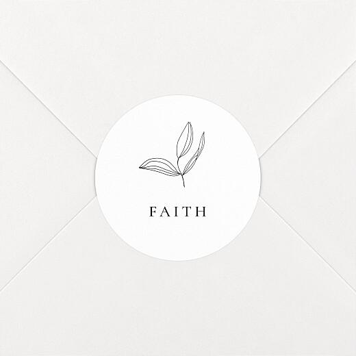 Christening Stickers Serenity white - View 2
