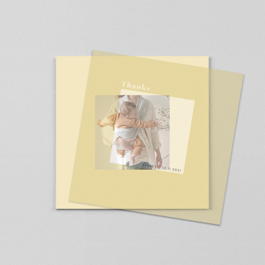 婴儿感谢卡蒙太奇(牛皮纸)黄色 - 查看1