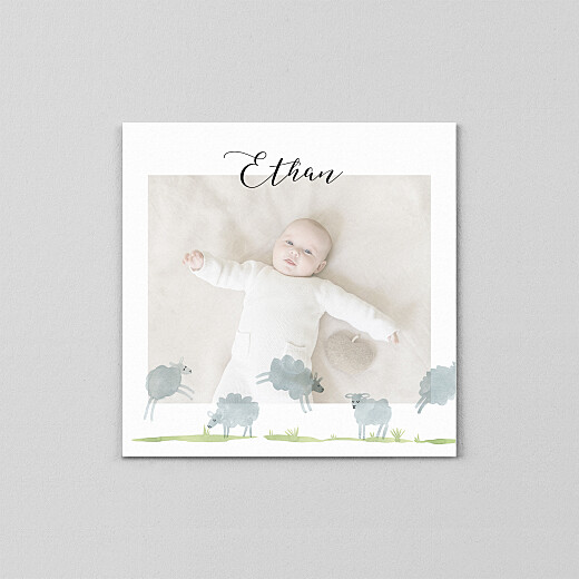 Baby Thank You Cards Counting sheep (vellum) white - View 2