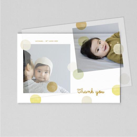 婴儿感谢卡五彩纸屑(帆)黄色 - 查看1