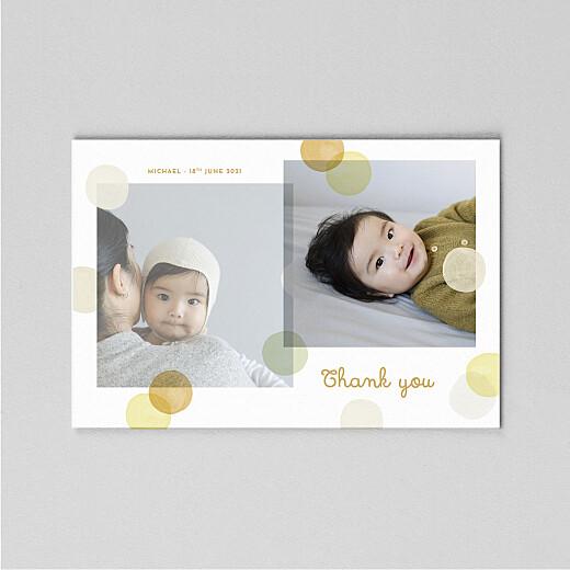婴儿感谢卡五彩纸屑(帆)黄色 - 查看2