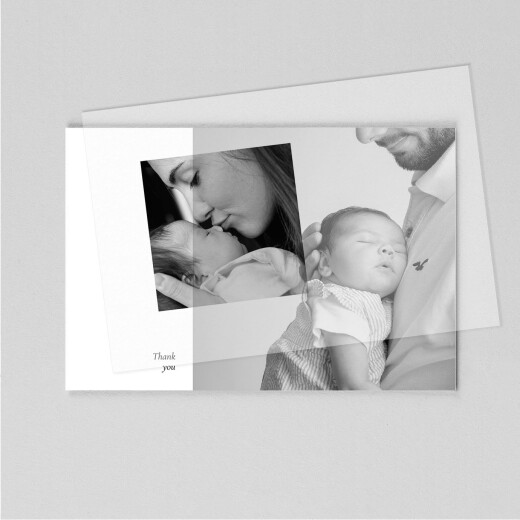 Baby Thank You Cards Cherished (vellum) landscape white - View 1