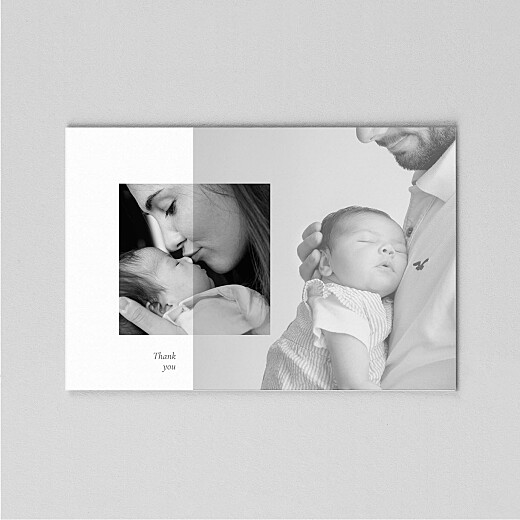 Baby Thank You Cards Cherished (vellum) landscape white - View 2