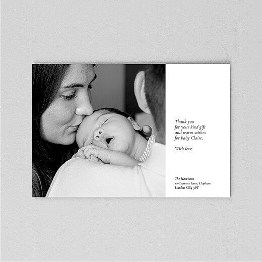 Baby Thank You Cards Behind the name (vellum) white - View 3