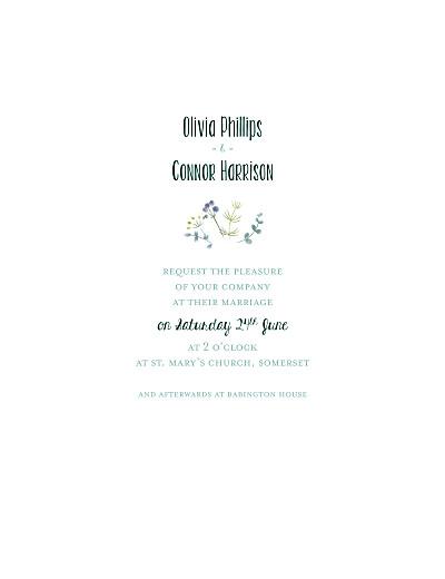 Wedding Invitations Watercolour meadow (vellum) pink finition