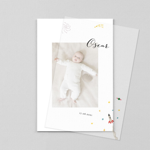 Baby Thank You Cards Once upon a time (vellum) sky - View 1
