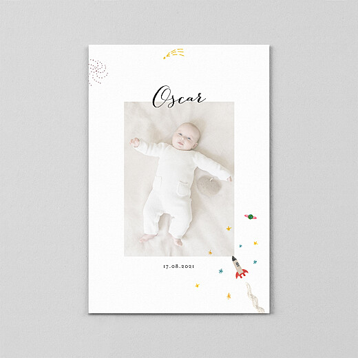 Baby Thank You Cards Once upon a time (vellum) sky - View 2
