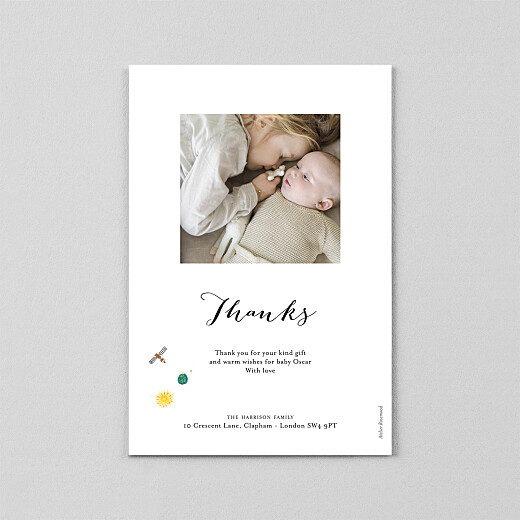 Baby Thank You Cards Once upon a time (vellum) sky - View 3