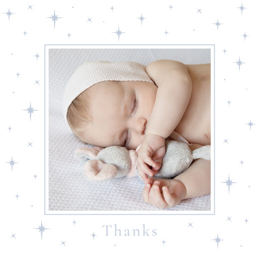 Baby Thank You Cards Under the stars (4 pages) blue