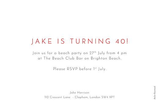 Birthday Invitations Terrazzo white - Page 2