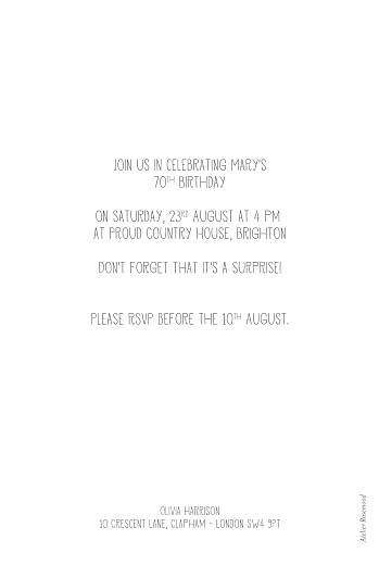 Birthday Invitations Time travel white - Page 2