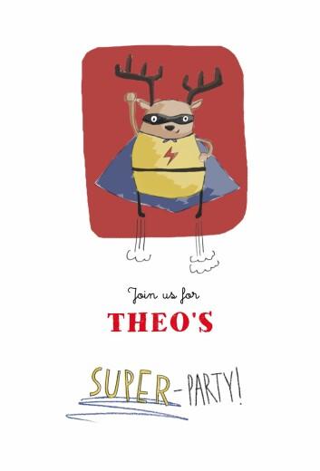 儿童派对邀请Superparty红