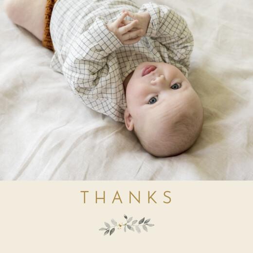 婴儿感谢卡有福杏色
