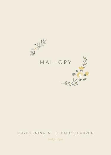 Christening Order of Service Booklets Blessed beige