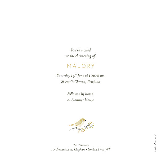 Christening Invitations Blessed yellow - Page 2