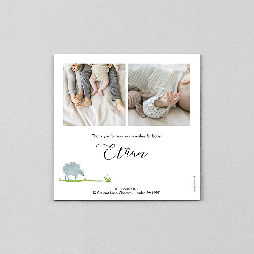 Baby Thank You Cards Counting sheep (vellum) white - View 3