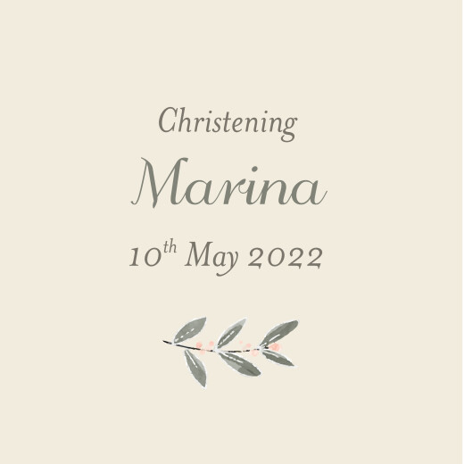 Christening Gift Tags Divine pink