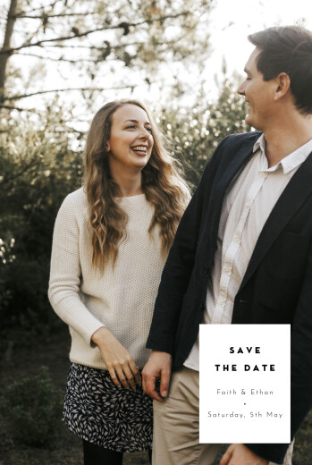 Save The Date Cards Emblem white