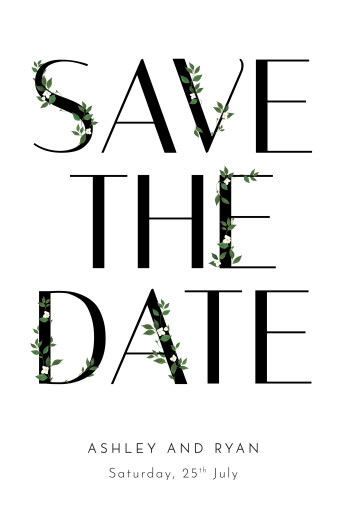 Save The Date Cards Love grows white