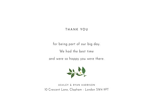 Wedding Thank You Cards Love grows white - Page 3